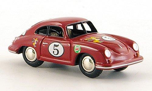 Porsche 356 Ferdinand, No.5, rot, Modellauto, Fertigmodell, Bub 1:87