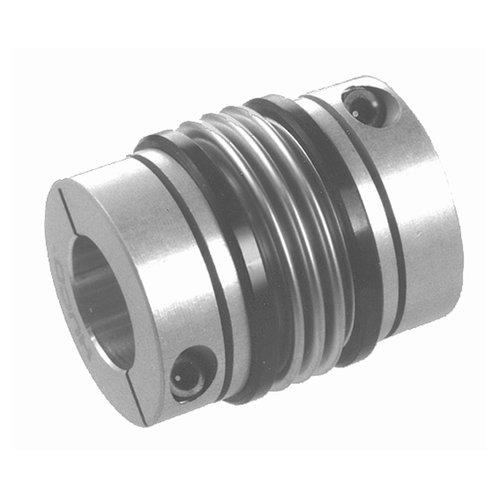 Thomafluid Wellenkupplung MB - Metallbalg, L: 49,7 mm, L1: 18 mm, D1: 37,4 mm, Bohrung (B): 18 mm, 2 Stück