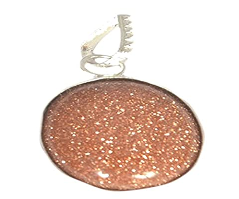 20x 15mm Brun Goldstone Pendentif ovale