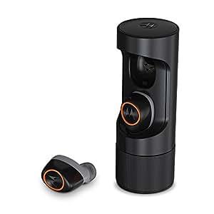 Motorola VerveOnes+ ME Auricolari Stereo Smart Bluetooth, Compatibili con Alexa, Siri e Google Now, Nero/Rosso Fiamme