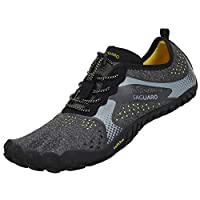 SAGUARO Barefoot Shoes Men Women Road Trail Running Shoes Indoor Gym Fitness Trainers Outdoor Hiking Climbing Walking Shoes Quick Drying Water Shoes, Black, 5.5 UK