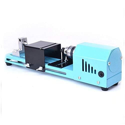 DirkFigge 150W Mini Drehmaschine Perlen Polierer Maschine, DIY CNC Bearbeitung, Tabelle WoodworkingTool, Holz DIY Werkzeug
