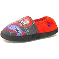 Kids Older Childrens Slip On Red Black Spiderman Slippers Boys Mules Size 8-2
