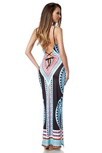 Angies Glamour Fashion - Robe - Femme Small blau/pink/schwarz