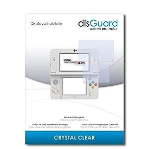 disGuard® Displayschutzfolie [Crystal Clear] kompatibel mit New Nintendo 3DS [2 Stück] Kristallklar, Transparent, Unsichtbar, Extrem Kratzfest, Anti-Fingerabdruck – Panzerglas Folie, Schutzfolie