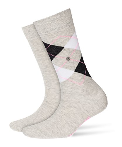 Burlington Damen Socken Everyday Mix, 2er Pack, Violett (Grey/Red 3821), 36/41