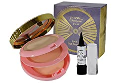 NYN 2in1 3D Glitter Compact Powder Free Kajal-AGRUM