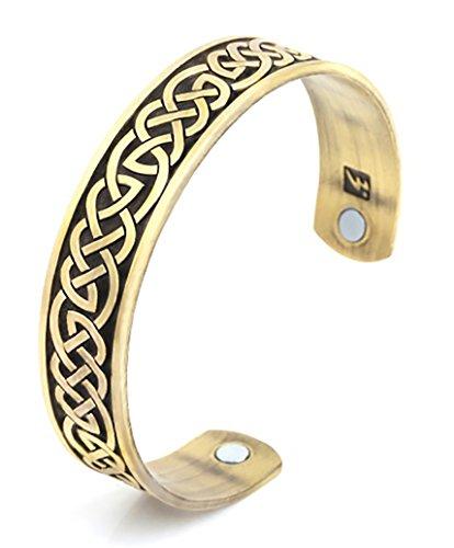 My Shape Atención de la salud magnética pulsera celta nudo estilo ajustable de composición abierta Cuff Bangle Vikingo joyas