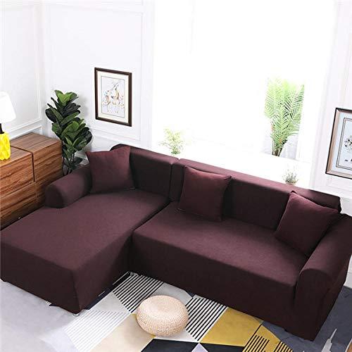 Abukjm copridivani due posti il rivestimento del divano in tinta unita per il soggiorno deve acquistare 2 set di divani copridivano angolare ad l copridivano copridivano @ color 5 2-seat and 4-seat