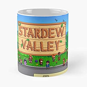 Indie Game Stardew Valley - Best Gift Mugs Abigail Robin Romantic Emotions Cute Laughing Wood Portrait Farming Farm Carpenter Woodwork Pixel Best Personalized Gifts