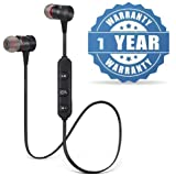 Lizzie Magnetic Wireless Bluetooth Earphones Headset with Mic for Handsfree Calling for All Smartphone Devices