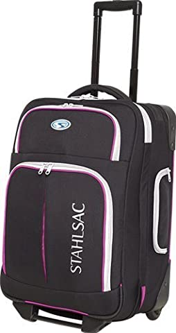 Stahlsac Rangi Roller Bag (Black / Pink) by Stahlsac Dive