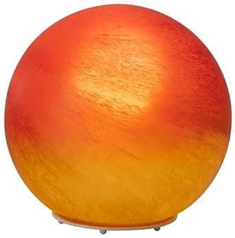 Brilliant 51847/24 Lampe à Poser Moderne Timo 60 W E27 230 V Rouge / Orange / Albâtre