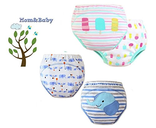 Mom&Baby COMFORT FIT ** 4 x Trainer Pants / Couche Culotte d'apprentissage lavable / réutilisables ** Garçon 2-3 ans