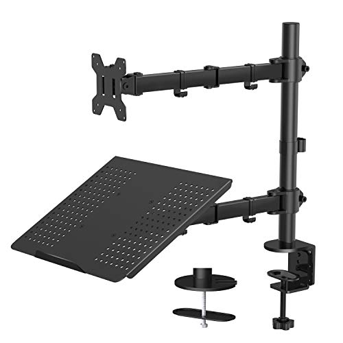 HUANUO Monitor Arm mit Laptop-Ha...
