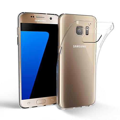 Samsung Galaxy S7 Hülle Case, EasyAcc Dünn Crystal Clear Transparent Handyhülle Cover Soft Premium-TPU Durchsichtige Schutzhülle Backcover Slimcase für Samsung Galaxy S7