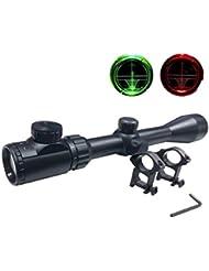 Latinaric Lunette De Visée 3-9X40mm Rifle Scope Optique Pour Chasse Avec Support De Montage