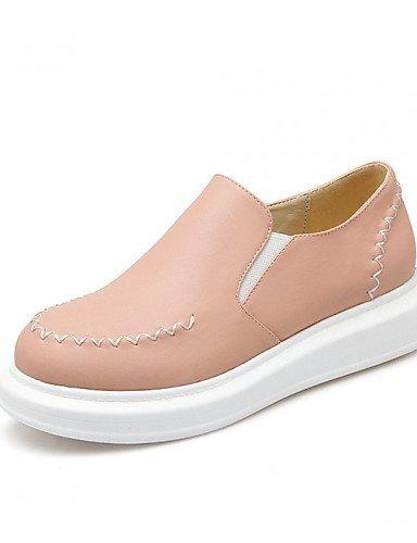 ShangYi gyht Scarpe Donna - Mocassini - Tempo libero / Formale / Casual - Creepers / Punta arrotondata - Plateau - Finta pelle - Rosa / Bianco / Beige Pink