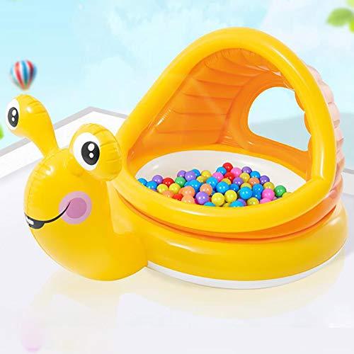 SSLC Laufstall Laufgitter Multifunktional Planschbecken Aufblasbare Baby Spielzaun Absperrgitter Schutzgitter für Kinder - Kein Ball, Yellow Snail
