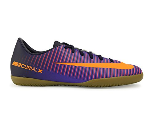 Nike Jr Mercurialx Vapor Xi Ic, Chaussures de Foot Mixte Bébé, Orange/Schwarz/Pink Violet