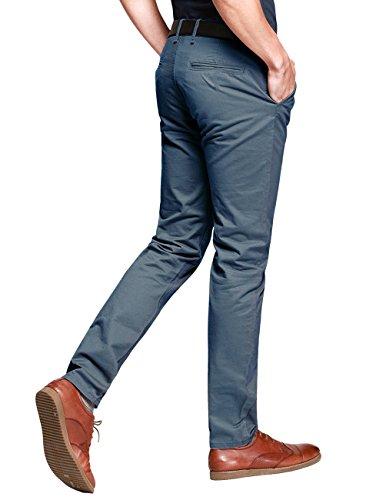 Match Pantalons Casual Slim Tapered pour Homme #8025 8025 Indigo bleu(Indigo blue)