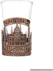 Skywalk Taj Mahal India Shot Glass, Perfect Souvenir for Home (Copper)