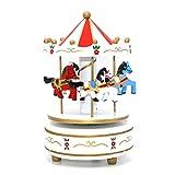 Carrusel madera caja de música tiovivo Musical de madera regalos cajas de Navidad para niños Vintage cajas de música