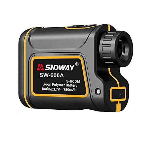 Entfernungsmesser,Handheld Lasermessgerät Multifunktionaler 600/1000/1500m,Geschwindigkeitsmessung 0~300km/h,wasserdicht Schutzklasse IP54,für Jagd,Golf,Geschwindigkeit,Winkel und Höhe Messung (600m)