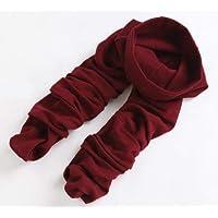 Calcetines de invierno Los pantalones de tirar de las mujeres de otoño e invierno llevan pantalones delgados delgados que se calzan los pies y los pies calcetines del mameluco del pie (Color: Rojo)