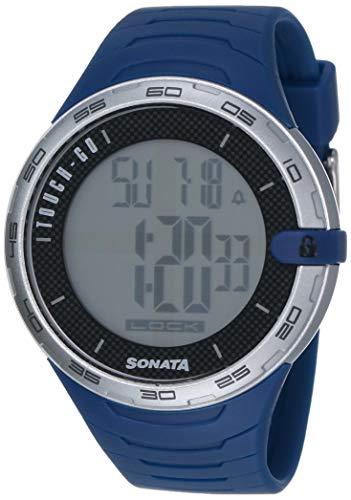 Sonata Digital Grey Dial Men's Watch - 77041PP05