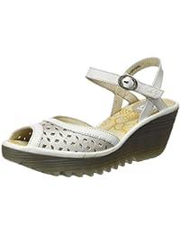 35caa38e0 Plateado - Sandalias de vestir   Zapatos para mujer ... - Amazon.es
