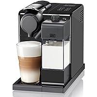 Nespresso De'Longhi EN560.B Lattisima Touch Animation - Cafetera de capsulas, 19 bares, sistema thermoblock, cappuccino y latte macchiato automáticos, 6 preselecciones, 1400 W, Negro