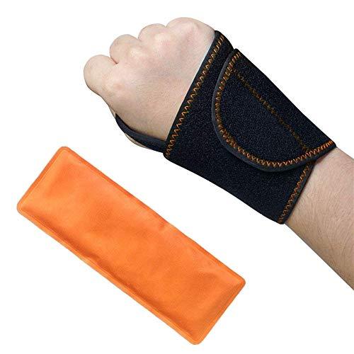 Handgelenk Kühlkompresse Gel Kühlkissen mit Klettband - Groß für Handgelenk-Sport-Verletzungen, Arthritis, Verstauchungen, Schwellung, Gelenkschmerzen, Karpaltunnel, Tendinitis und Mehr (Kühlen-gel Pack)
