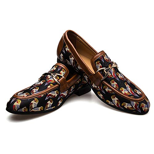 JITAI Männer Lindford Moc Toe Bit Slip-On Penny Loafer Party Schuhe (EU43/US10, BRAUN)