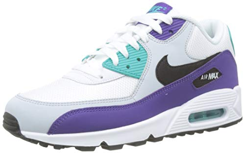Nike Men's Air Max '90 Essential Shoe, Scarpe da Ginnastica Uomo, Multicolore (White/Black/Hyper Jade/Court Purple 103), 40 EU