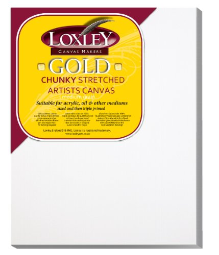 Loxley Gold LCC-1814 - Lienzo preestirado, Color Blanco