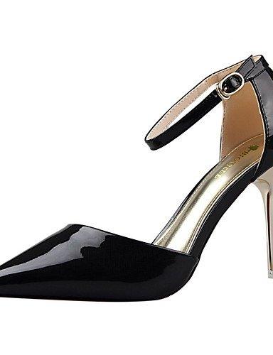 WSS 2016 Chaussures Femme-Habillé-Noir / Rose / Rouge / Bordeaux / Amande-Talon Aiguille-Talons / Bout Pointu / Bout Fermé-Talons-Soie / Similicuir almond-us5.5 / eu36 / uk3.5 / cn35