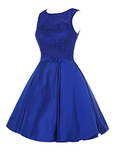 Find Dress Rétro Vintage 40s 50s 60s Femme Elégant Robe de Soirée/Cérémonie/Cocktail Mariage Courte en Satin Blush