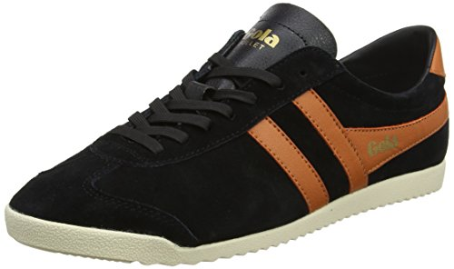 Gola Bullet Suede, Sneaker Uomo, Nero (Black/Orange), 44 EU