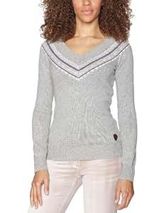 Roxy Damen Pullover Horizon, heather grey, L, WPWPU112-HGR-L