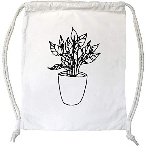Azeeda 'Friedenslilie Pflanze' Kordelzug / Sporttasche (DB00012588)