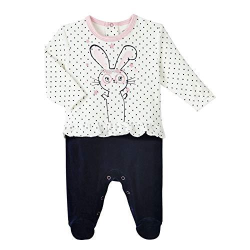Petit Béguin - Pyjama bébé fille velours Magic Bunny - Taille - 12 mois