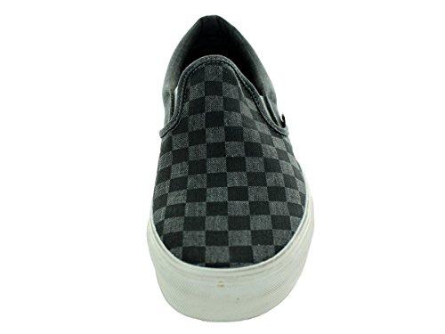 Vans  U Classic Slip-On, Bottes Classiques Unisexe adulte Noir - Noir/gris