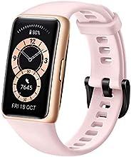 ساعة هواوي تناسب الساعة الذكية الأنيقة، إطار ساعة من الفولاذ المقاوم للصدأ، شاشة اموليد 1.64 بوصة، عمر بطارية