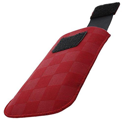 XiRRiX Handytasche mit Ausziehhilfe Size S für Doro PhoneEasy 609 612 6030 Select - Primo 406 413 - Swisstone BBM 620 - Handy Tasche rot