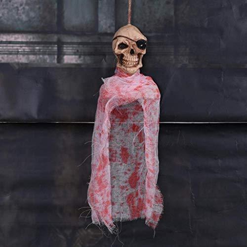 CS-LJ X Hallowas Party Requisiten Kostüm Masken Horror Hängender Geisterschädel Anhänger Hängender Schädel Spukhaus Dekor for Alle Heiligtümer Allerheiligen (Weihnachten Im Zusammenhang Kostüm)