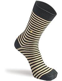 The Moja Club Socks - Beige Striped Socks