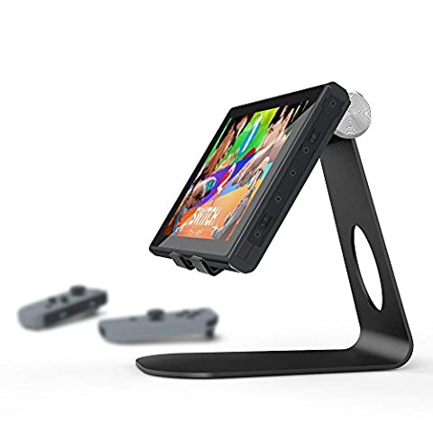 iMuto Tablet Ständer Aluminium Handy Halterung für Nintendo Switch, Tablets, E-Reader und Smartphones