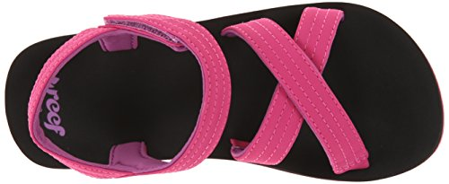 Reef Ahi R5114, Tongs fille Noir (Romp Black/Pink)