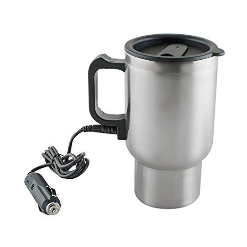 Mug Electrique en Acier Inoxydable / Bouilloire Electrique de Voiture 12 V / Tasse à Café de Voiture avec Chargeur Allume Cigare